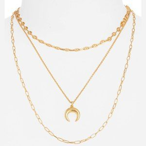 NEW Madewell Moon Necklace Set